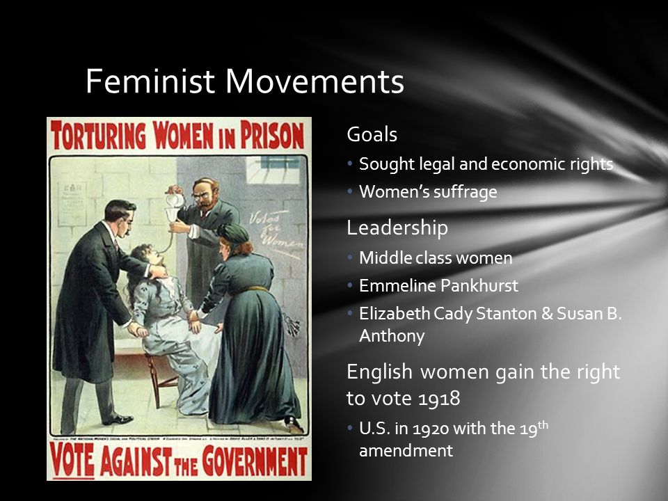 Feminist Movements Goals Leadership