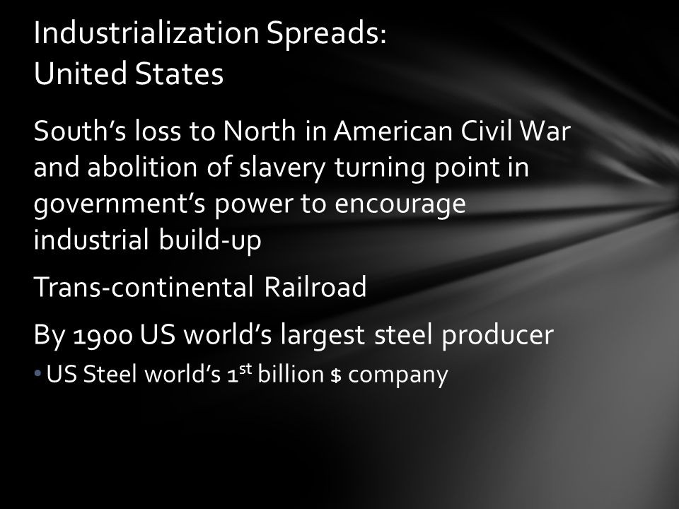 Industrialization Spreads: United States