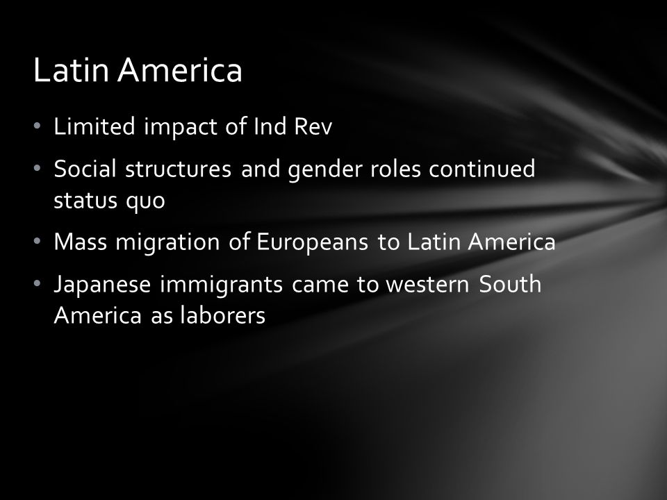 Latin America Limited impact of Ind Rev