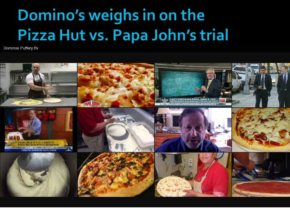 Domino's weighs in on the Pizza Hut vs. Papa John's trial