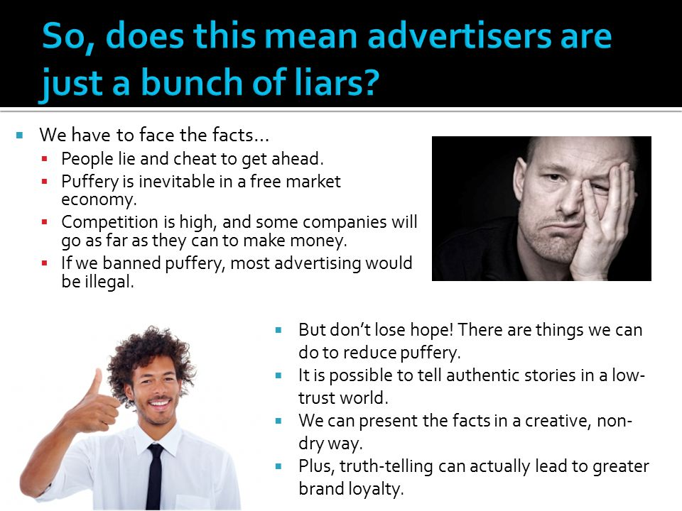 So, does this mean advertisers are just a bunch of liars