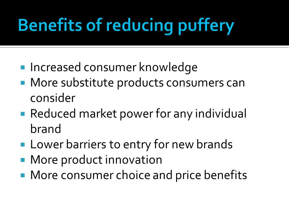Benefits of reducing puffery