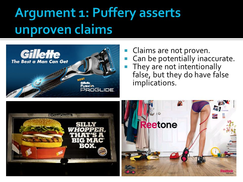 Argument 1: Puffery asserts unproven claims