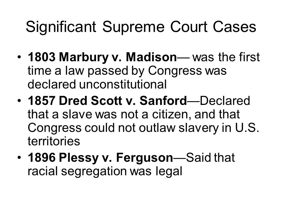 Significant Supreme Court Cases