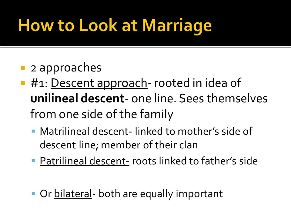 How to Look at Marriage 2 approaches