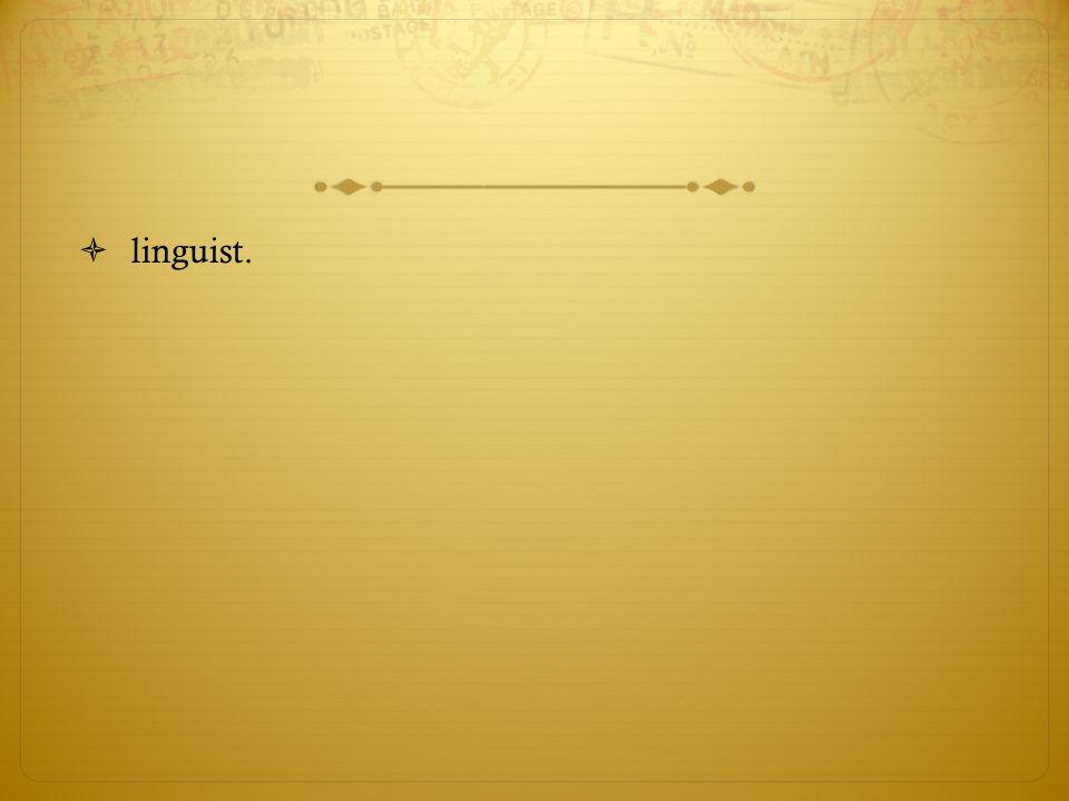 linguist.