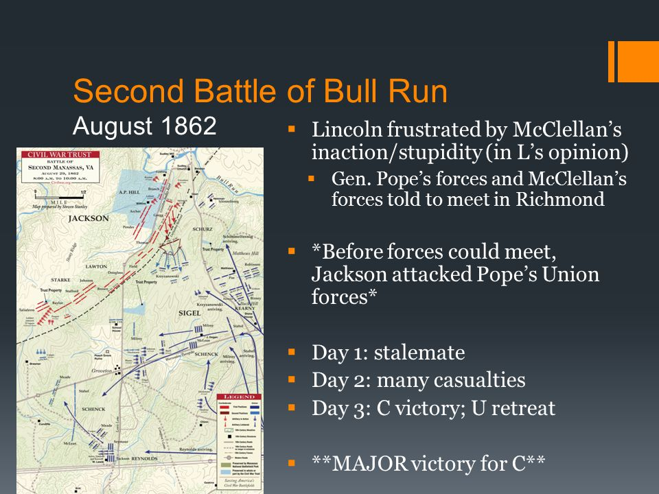 Second Battle of Bull Run August 1862