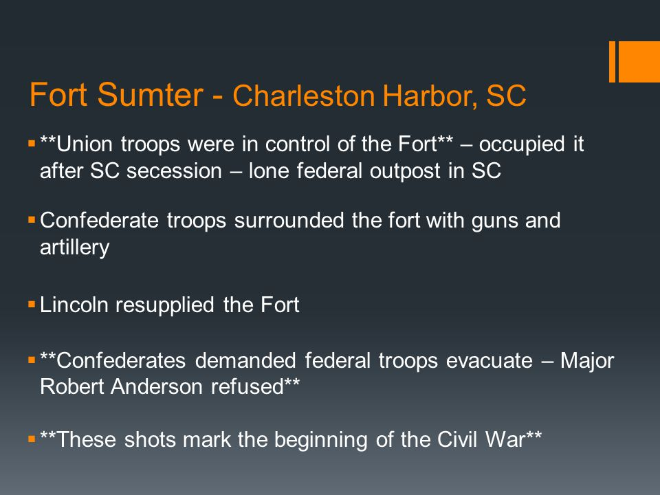 Fort Sumter - Charleston Harbor, SC