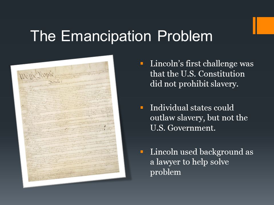The Emancipation Problem