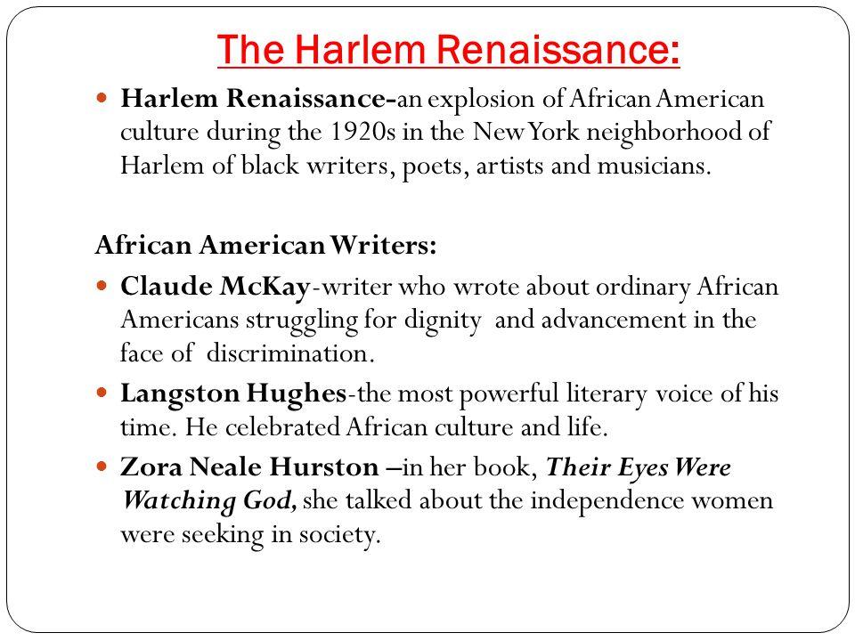 The Harlem Renaissance:
