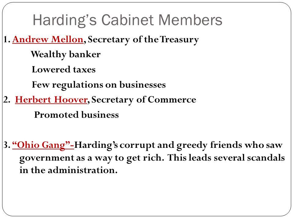 Harding's Cabinet Members