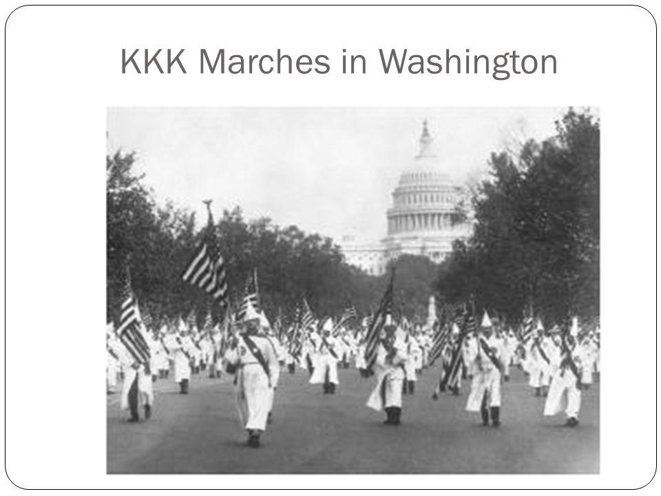 KKK Marches in Washington