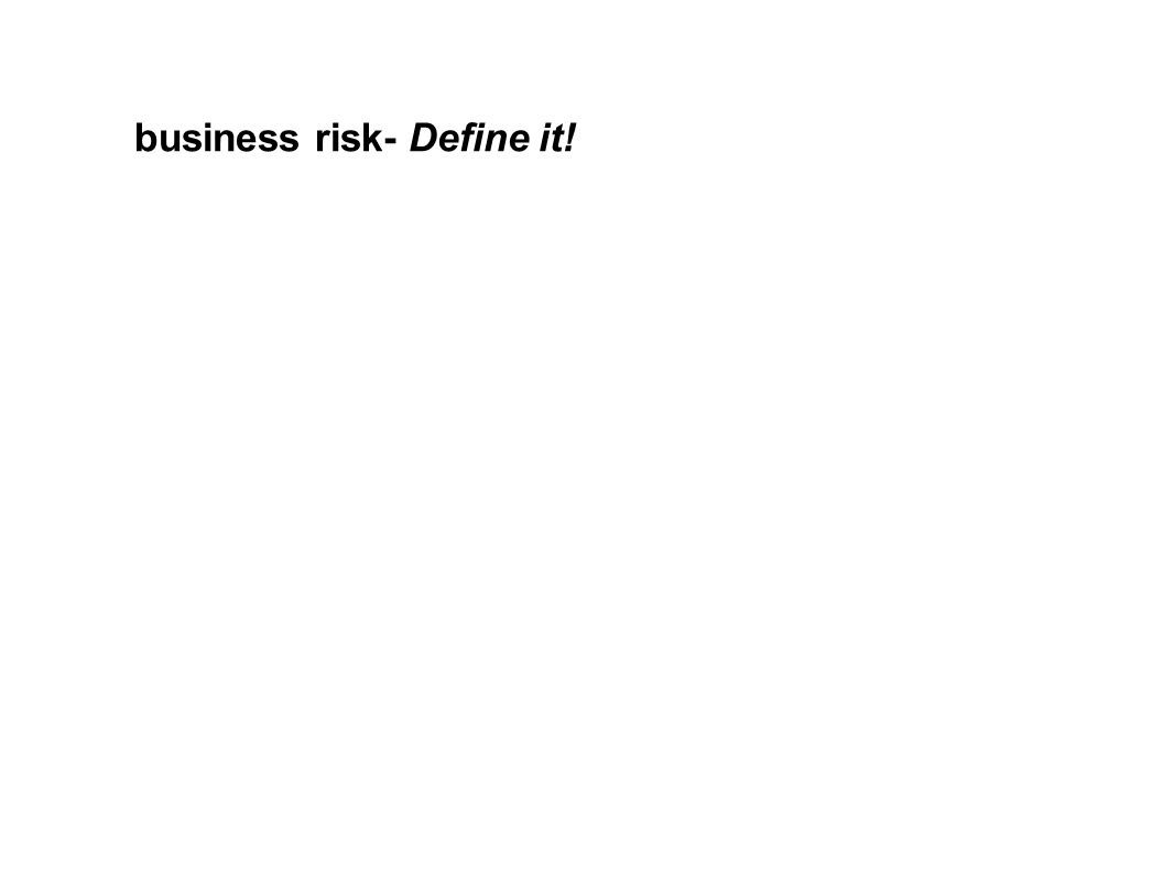business risk- Define it!
