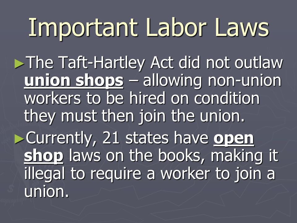 Important Labor Laws