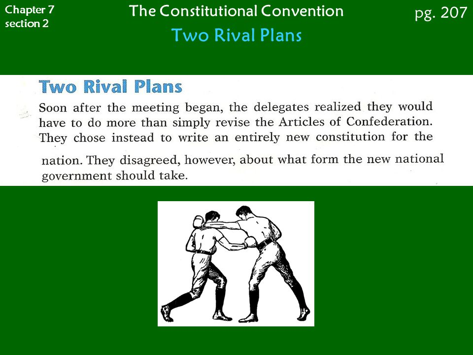 The Constitutional Convention Two Rival Plans