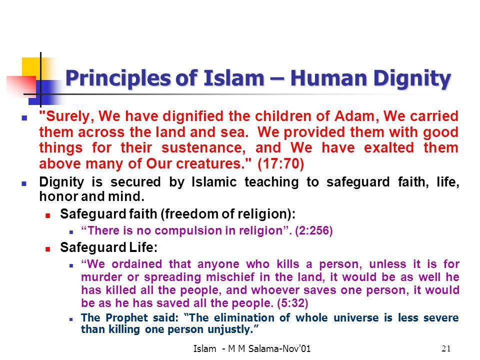 Principles of Islam – Human Dignity