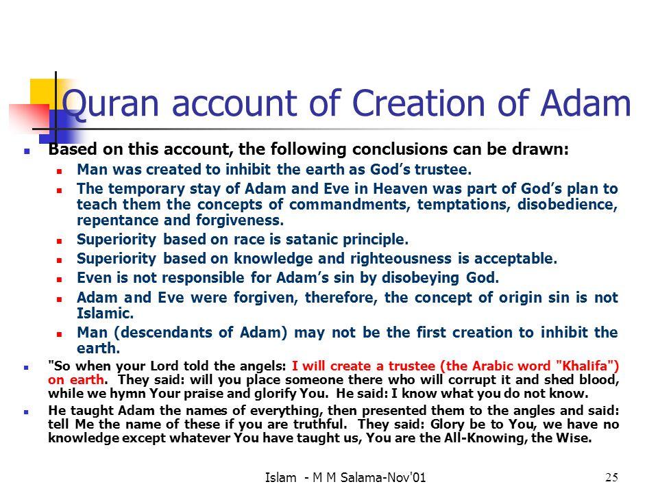Quran account of Creation of Adam