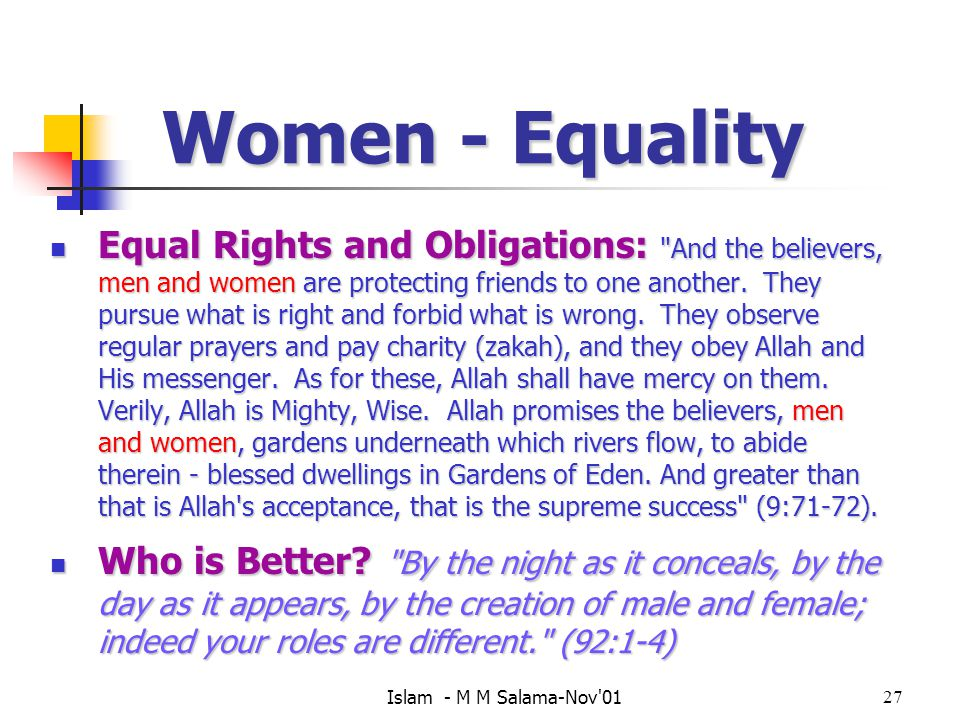 Women - Equality