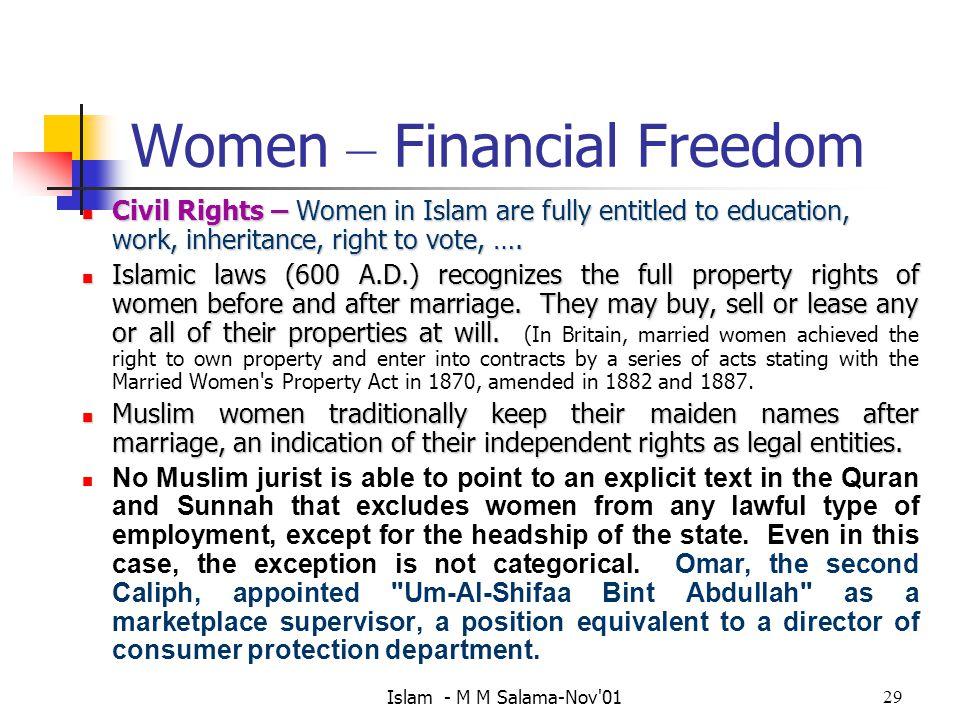 Women – Financial Freedom
