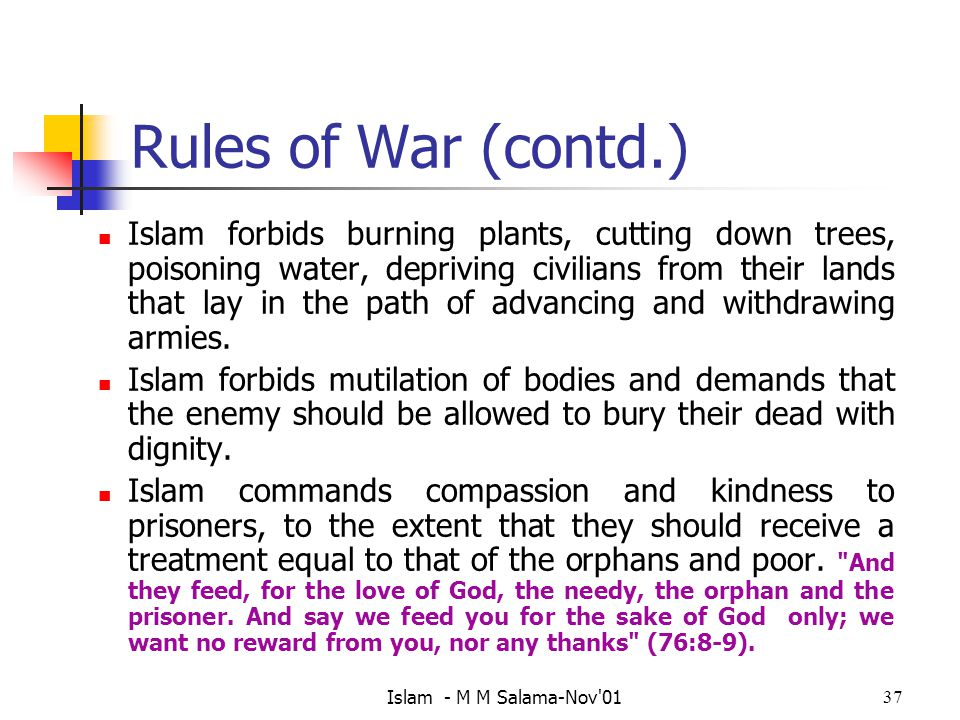 Rules of War (contd.)