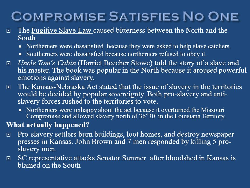 Compromise Satisfies No One