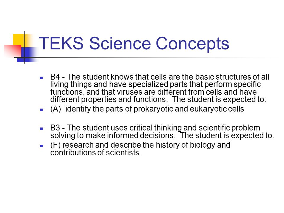 TEKS Science Concepts