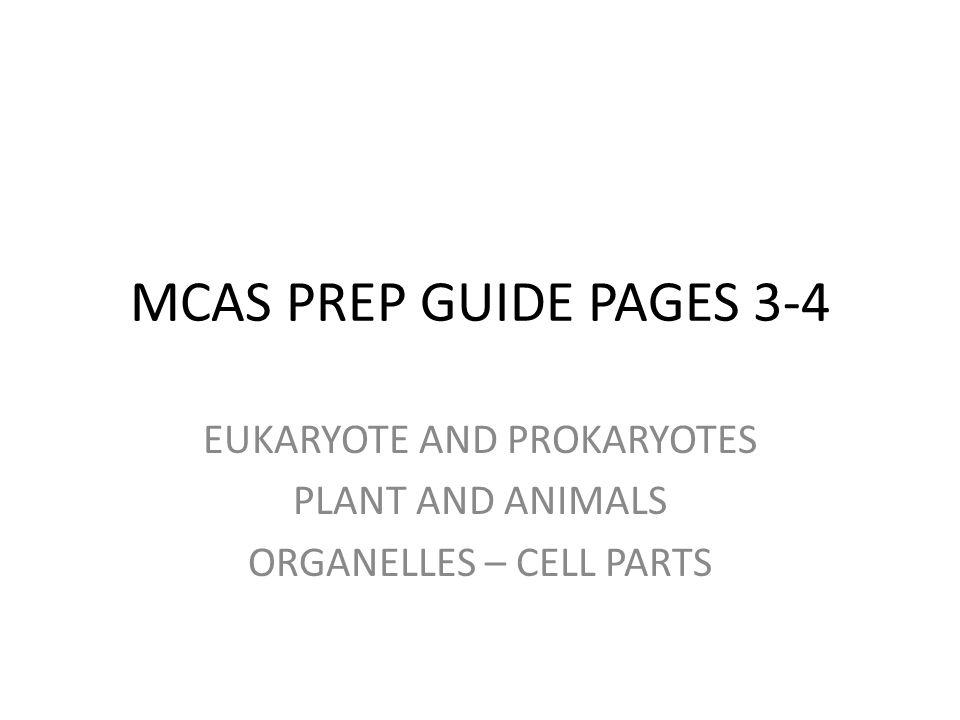 EUKARYOTE AND PROKARYOTES PLANT AND ANIMALS ORGANELLES – CELL PARTS