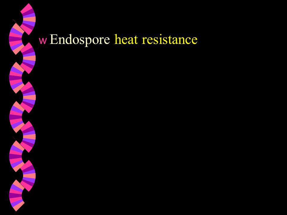 Endospore heat resistance