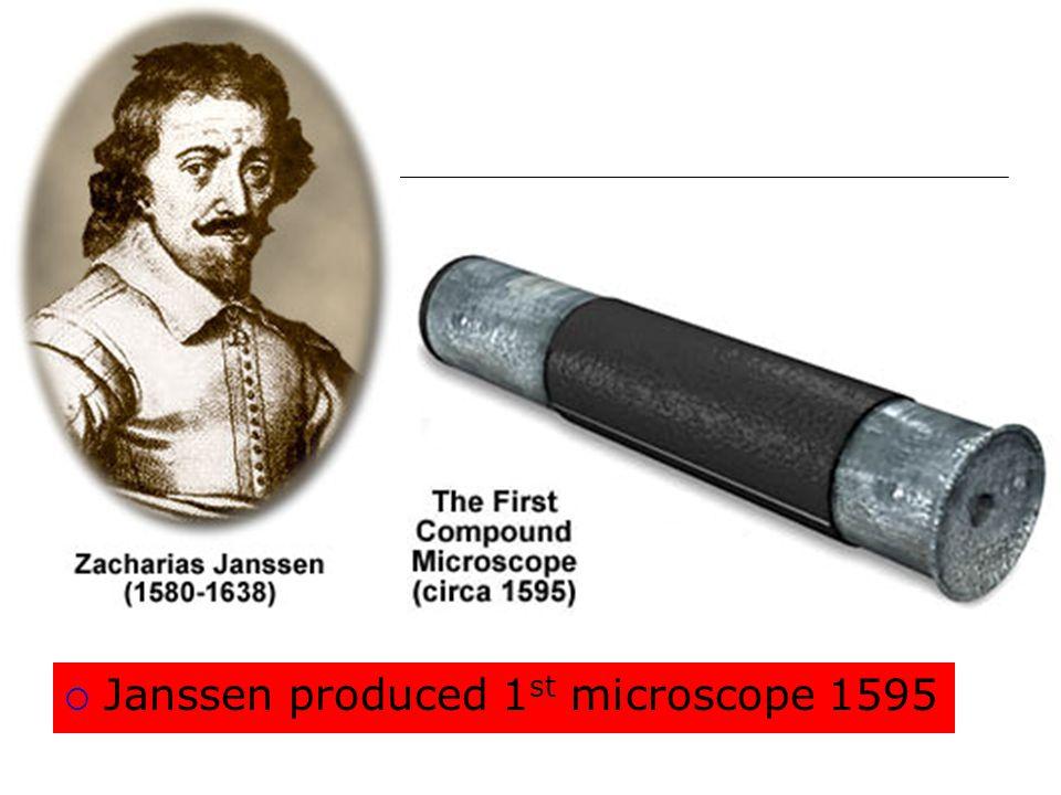Janssen produced 1st microscope 1595