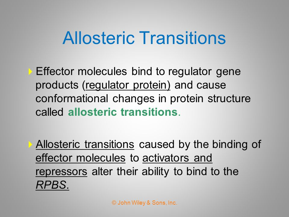 Allosteric Transitions