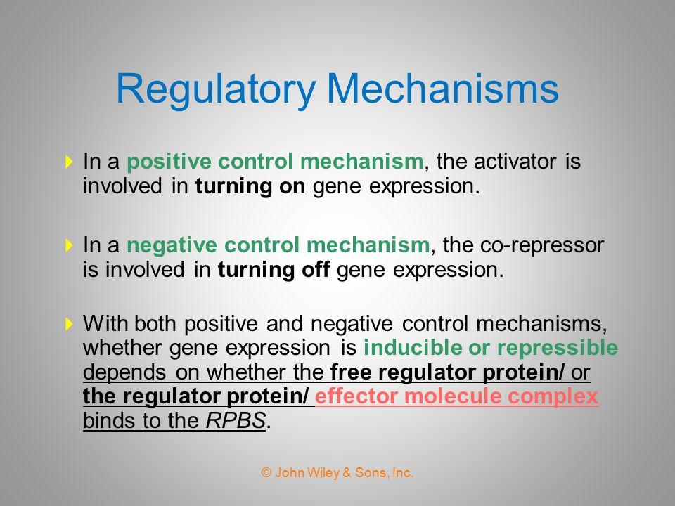 Regulatory Mechanisms