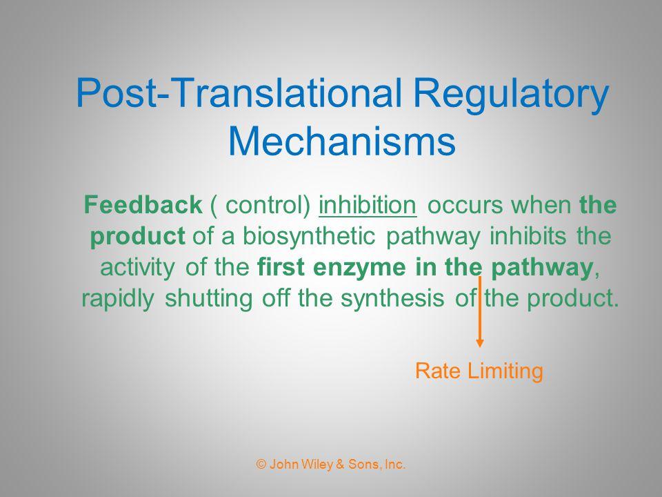 Post-Translational Regulatory Mechanisms