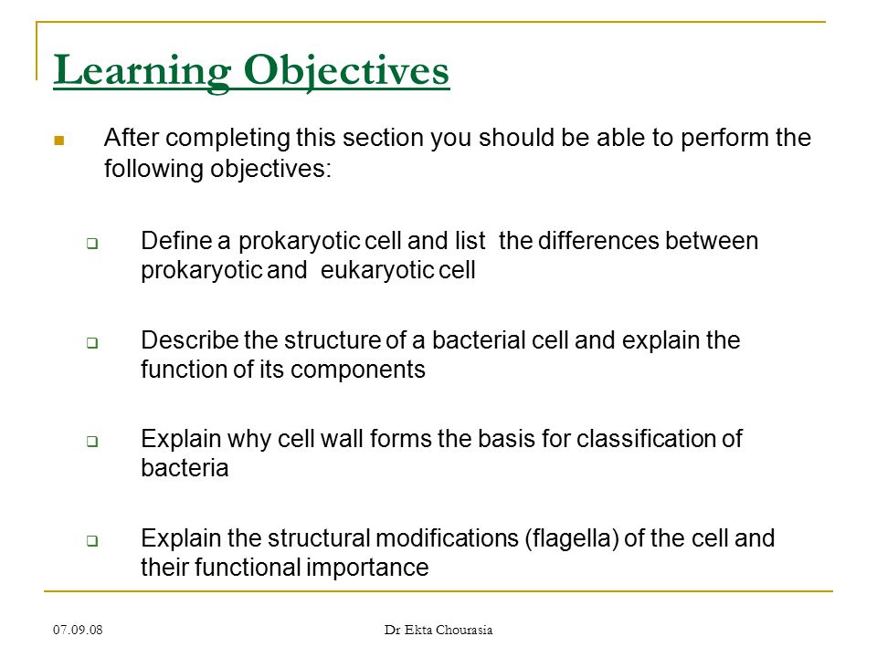 Learning Objectives After completing this section you should be able to perform the following objectives: