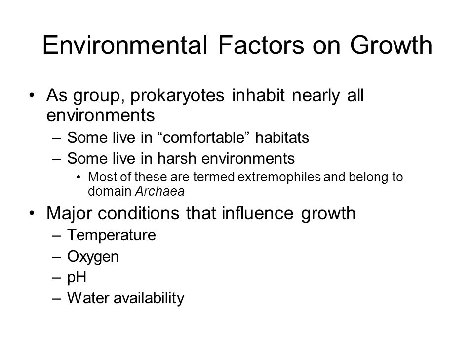 Environmental Factors on Growth