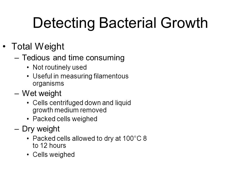 Detecting Bacterial Growth