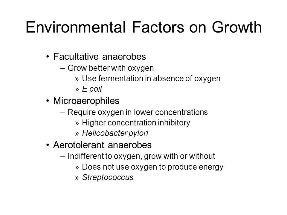 Environmental Factors on Growth