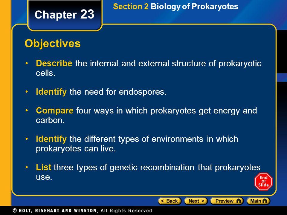 Section 2 Biology of Prokaryotes