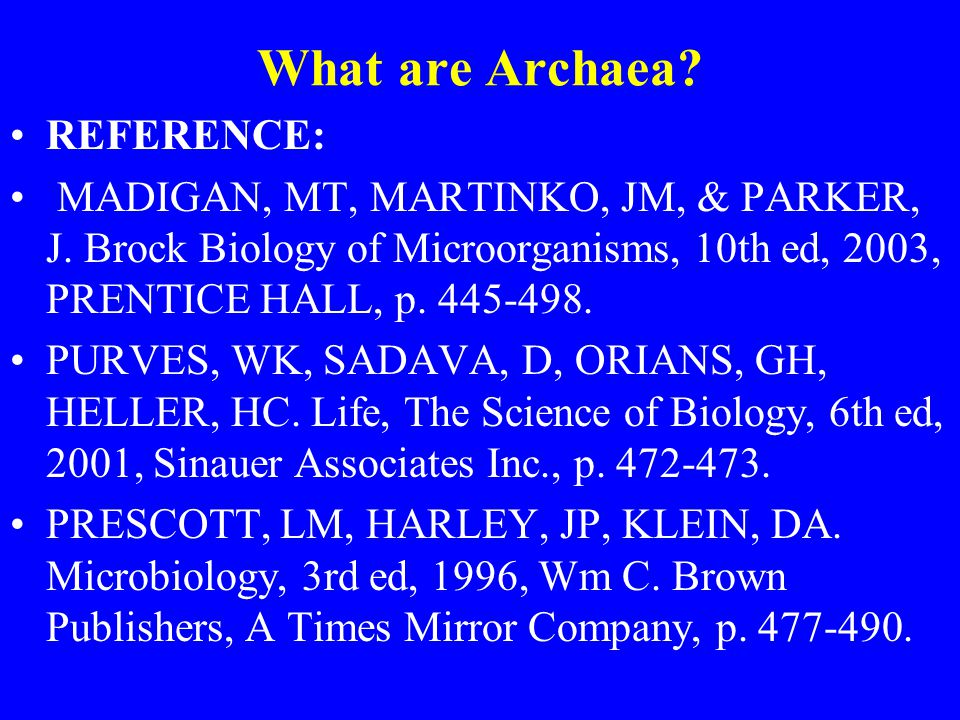 What are Archaea REFERENCE: