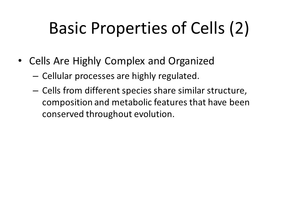 Basic Properties of Cells (2)