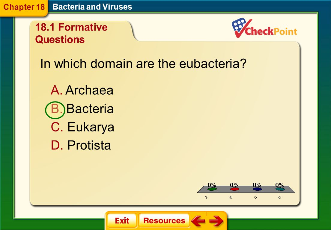 In which domain are the eubacteria