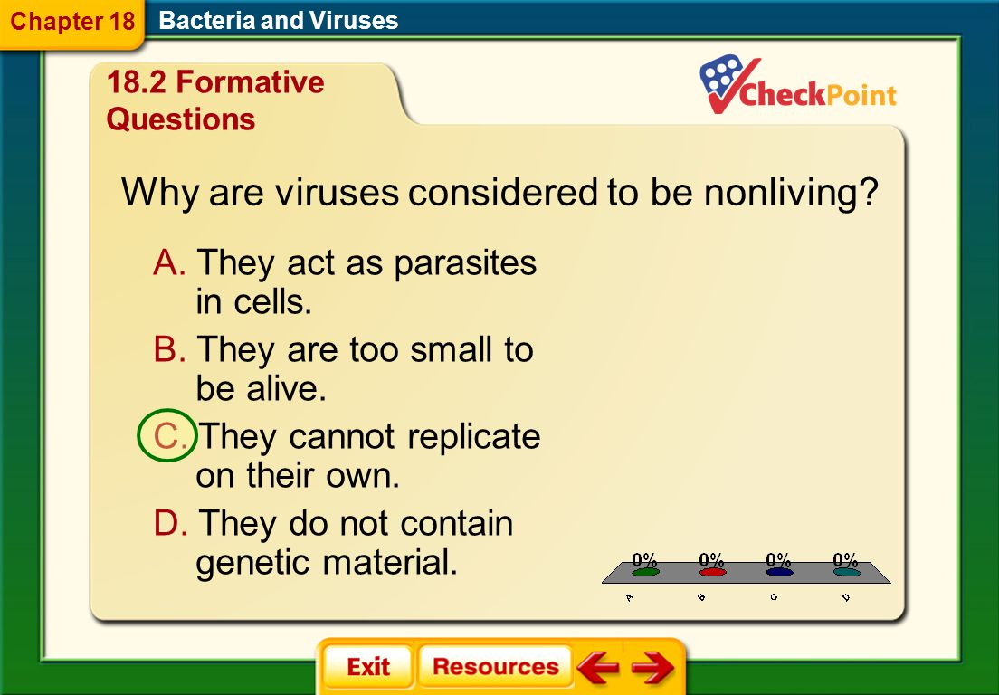 Why are viruses considered to be nonliving