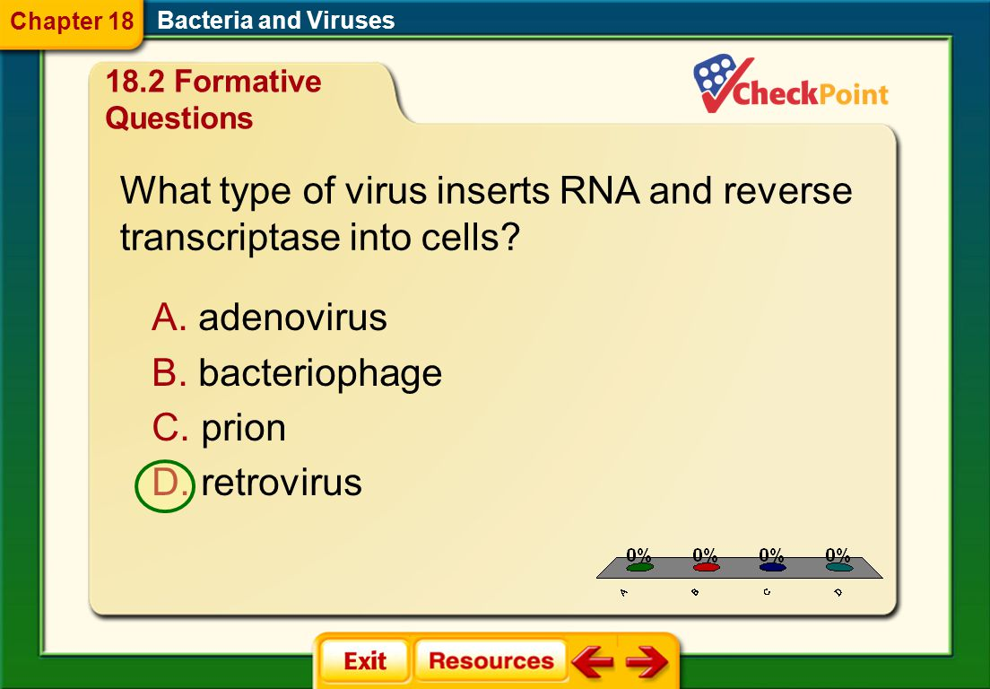 What type of virus inserts RNA and reverse transcriptase into cells
