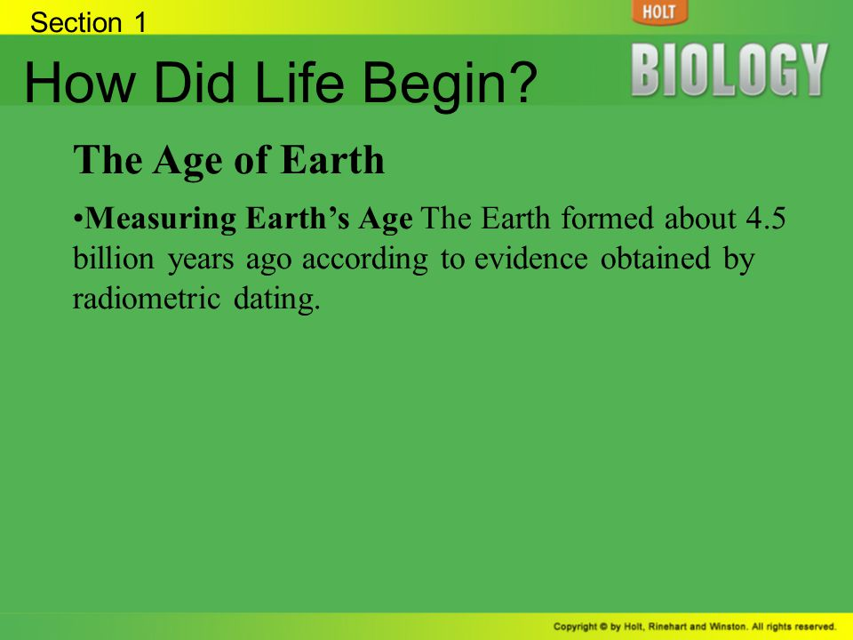 How Did Life Begin The Age of Earth
