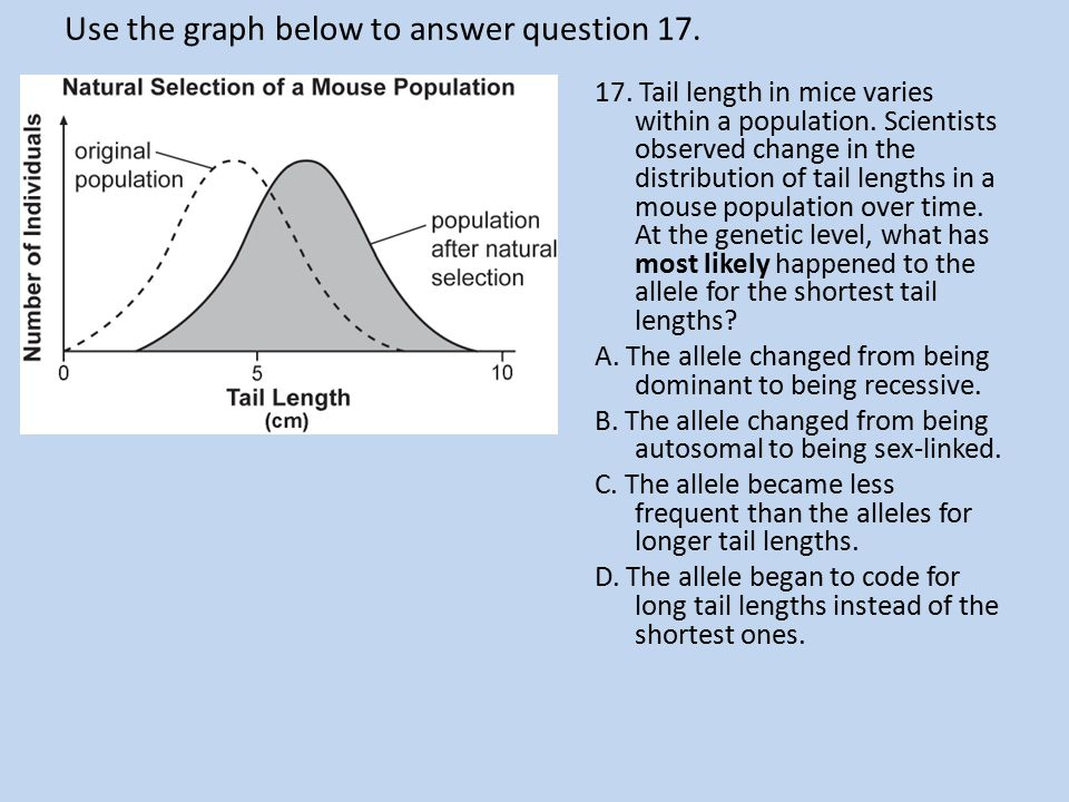 Use the graph below to answer question 17.