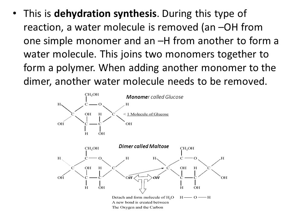 Monomer called Glucose