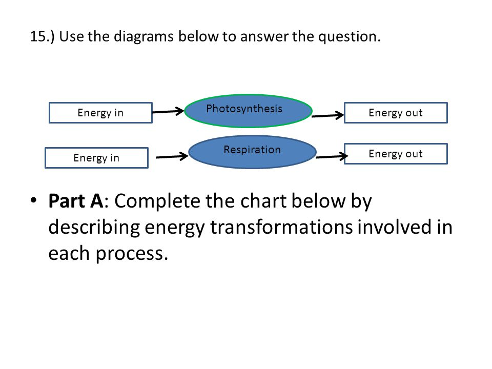 15.) Use the diagrams below to answer the question.