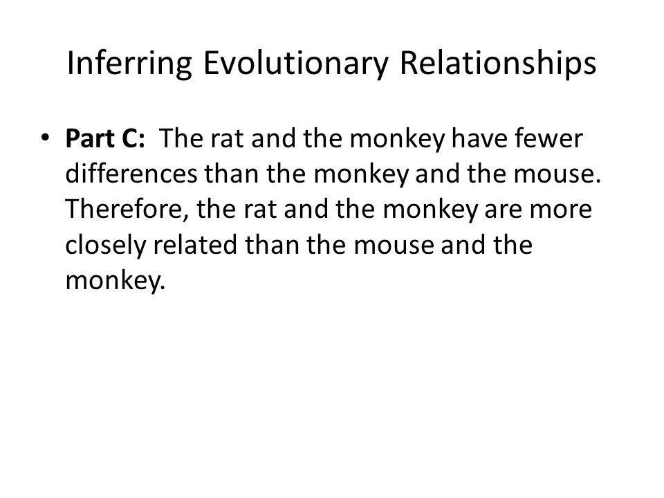 Inferring Evolutionary Relationships