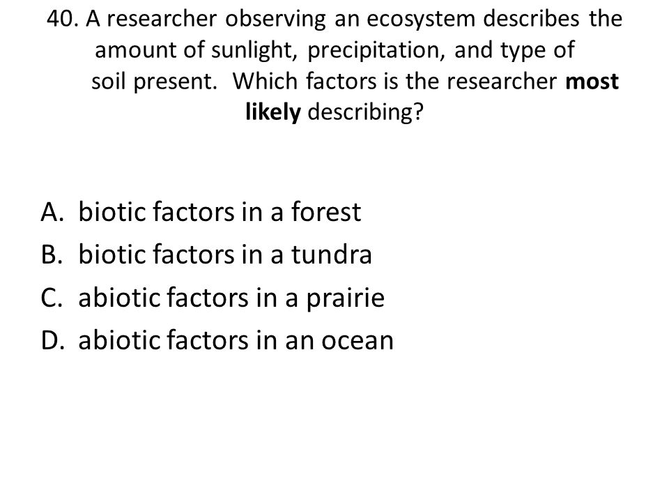 biotic factors in a forest biotic factors in a tundra