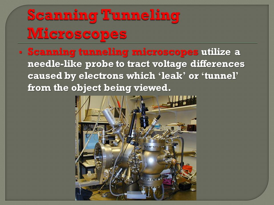 Scanning Tunneling Microscopes