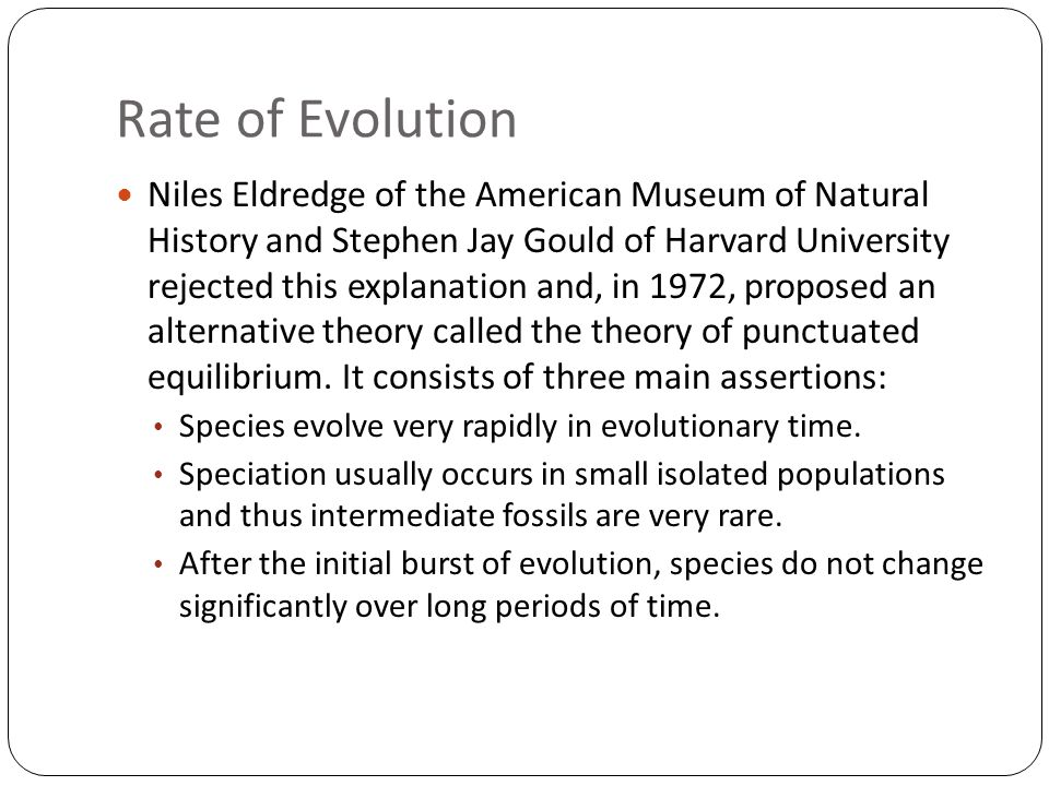 Rate of Evolution